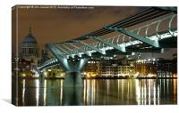 Millenium bridge, Canvas Print