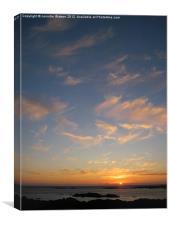 Atlantic sunset, Canvas Print