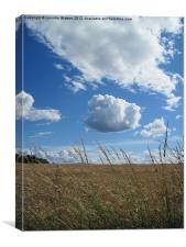Cloud and Barley, Canvas Print