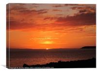 Port Henderson sunset, Canvas Print