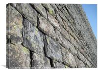 Old Slate Roof, Canvas Print