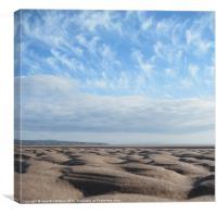 Sand Sculpture, Canvas Print