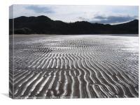 Sand Pattern on Gruinard Beach, Canvas Print