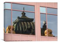 Flinders Street Reflection, Canvas Print