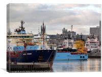 Aberdeen Harbour, Canvas Print