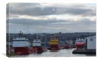 Aberdeen Harbour 2, Canvas Print