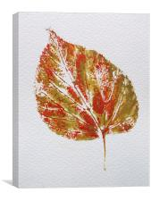 Lime Leaf Print, Canvas Print