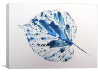 Blue Leaf, Canvas Print