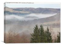 The Yarrow Valley in Winter, Canvas Print