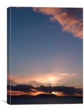 Skye Sunset 2, Canvas Print