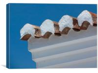 Andalucian roof tiles, Canvas Print