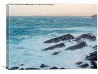 West Coast Waves, Canvas Print