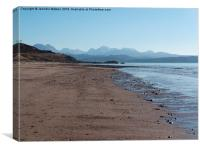 Towards Torridon from Big Sand, Canvas Print