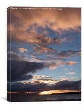 Sunset over Skye, Canvas Print