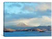 Towards Torridon from Gairloch, Canvas Print
