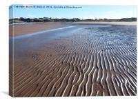 Firemore beach 3, Canvas Print