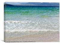 Azure sea at Luskentyre Beach, Canvas Print
