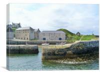 Portsoy Harbour, Canvas Print