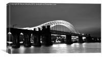 Runcorn Bridge, Canvas Print