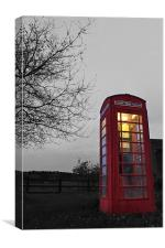 The big Red phone Box, Canvas Print