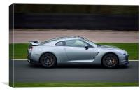 Nissan GTR rounding Oulton Park, Canvas Print