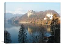 Bled Castle, Slovenia, Canvas Print