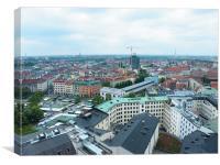 Munich City Skyline, Canvas Print