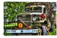 american army truck, Canvas Print