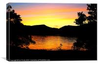 Sunset at Loch Eil, Canvas Print