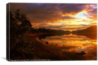 Loch Eil shoreline, Canvas Print