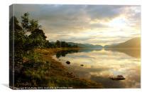Misty loch Eil, Canvas Print