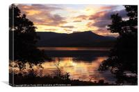 Loch Eil in the evening, Canvas Print