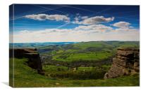 Spring at Froggatt Edge, Canvas Print