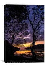 Sunset over Afon Mawddach, Canvas Print