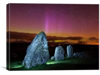 Aurora over Standing Stones, Canvas Print