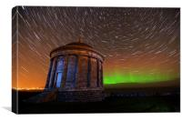 Aurora and Star-Trails, Canvas Print