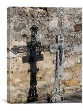 Shadow cast by Graveyard Cross, Canvas Print