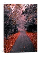 Into the Autumn Mist, Canvas Print