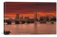 Londons Burning, Canvas Print