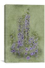 Tall Purples, Canvas Print
