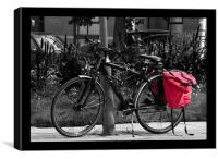Black, white and red, Canvas Print