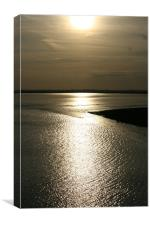 sunset over breydon water, Canvas Print