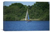 Yachting on the Norfolk broads, Canvas Print