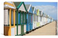 beach huts of Southwold, Canvas Print
