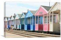 East Anglian beach huts, Canvas Print