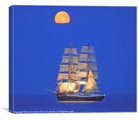 """""""MERCEDES"""" tall ship, Canvas Print"""