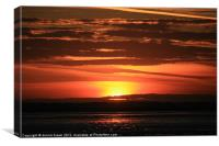 September Sunset over Breydon water, Canvas Print