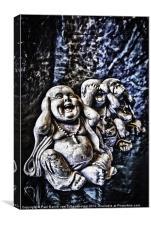 See no evil, hear no evil, say no more, Canvas Print