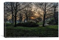 Sunrise Parc, Canvas Print
