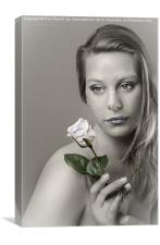 Girl with rose, Canvas Print